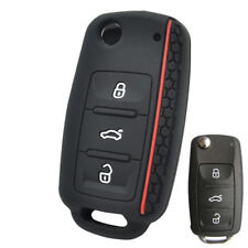 Key Case For VW POLO Bora Beetle Tiguan Passat Golf Silicone Remote Fob Cover