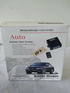 Vintage BULLDOG SECURITY Remote Start System Keyless Entry RS102 NOS Unused