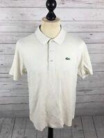 LACOSTE SPORT Polo Shirt - Size 4 Medium - Cream - Great Condition - Men's