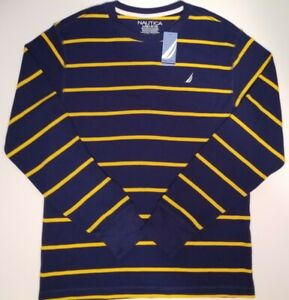 NWT Nautica Kids LG (14/16) Lightweight Sweater Blue and Yellow New Cotn/Polystr