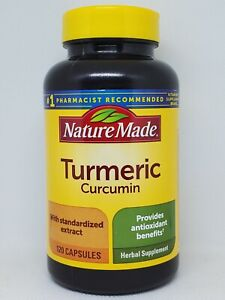 Nature Made Turmeric Curcumin Blend 500mg 120 Capsules Expires 12/2023