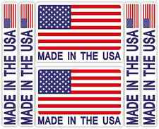 Made in The USA Sticker Set Car Motorcycle American America Decal