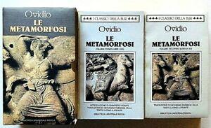 Ovidio Le metamorfosi Bur Rizzoli 1995 2 volumi in cofanetto Testo a fronte