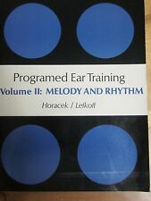 Programmed Ear Training volume 2:melody & rhythm- new 'old stock',504 pages