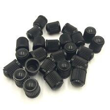 25 X Plastico Negro Cubierta Tapa Tapones de Válvula para Neumático Coche Moto