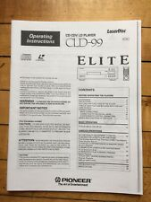 Owners Operating Instructions Manual For PIONEER ELITE CLD-99,