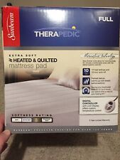 Therapedic Sunbeam Quilted Mattress Pad Extra Soft Heated Digital Auto Off Full