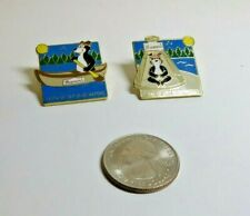 1999 Hamm's Bear Canoe and Teepee metal lapel pins