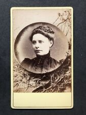 Victorian Carte De Visite CDV: Mystery Woman Very Unusual Design: Ashes to Ashes