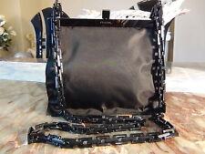 US seller PRADA NYLON PLASTIC CHAIN SMALL SHOULDER PARTY BAG PURSE BLACK