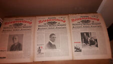 31x ORGINAL DEUTSCHE KRIEGSZEITUNG 1917 ALT ANTIK KONVOLUT SAMMLUNG
