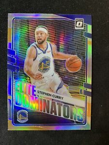 2020-21 Panini Donruss optic basketball Elite Dominators Stephen Curry Silver 🔥