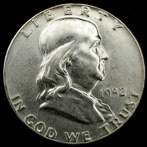 1952-P 50C Franklin Half Dollar BU 90% Silver 21lors0101