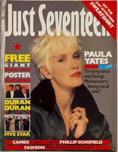 Paula Yates George Michael Duran Five Star Cameo Just Seventeen fashion magazine