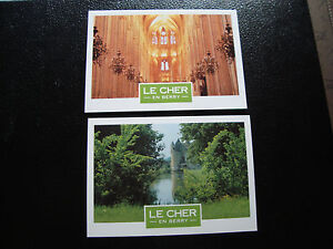 FRANCE - 2 cartes postales (cathedrale bourges/chateau de boucard) (cy57) french