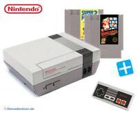 Nintendo NES - Konsole + Super Mario Bros. 1 & 3 + Original Controller + Zub.