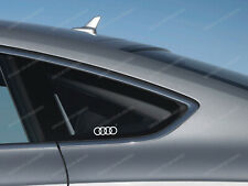 3 x Audi Rings Stickers for Side Windows A1 A3 A4 A5 A6 S3 TT Q2 Q3 Q5 S4 RS #46