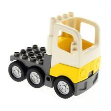 1 x Lego Duplo LKW Kabine weiß gelb Laster Auto Lastwagen Zugmaschine Unterbau n