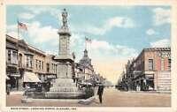Elkhart Indiana Main Street Looking North Antique Postcard J52167