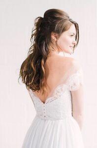 Catherine Deane Skye Lace Bardot Jacket Bridal Wedding Dress