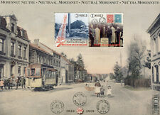 Belgium 2019 MNH Neutral Moresnet 2v M/S Tourism Landscapes Stamps-on-Stamps