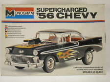 Vintage Monogram 56 Chevy Supercharged 1/24 Scale Model Kit #2255