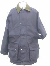 WATERPROOF JACKET POLY COTTON SIZE MED NAVY SHOOTING WALKING COUNTRYWEAR NEW