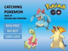 Pokemon Go GEN II Typhlosion Meganium Feraligatr Catching High CP 100% SAFE