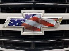 Chevy Silverado Truck Emblem Bowtie American Flag Overlay Decals Stickers