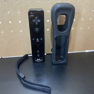 Official Nintendo Wii Black Wiimote Controller Motion RVL-036 TESTED