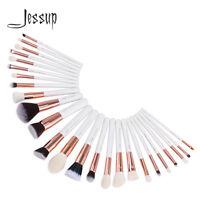 Jessup Professional Make Up Brush Set Powder Eyeshadow Brow Lip Cheek Rose Gold