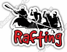 """Rafting  River Raft Outdoor Whitewater Car Bumper Vinyl Sticker Decal 5""""X4"""""""