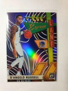 2019-20 Donruss Optic D'Angelo Russell Express Lane Purple Prizm