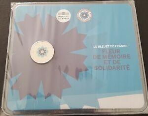 """2 euro Frankreich/France 2018 """"Le Bleuet""""BU -Coincard"""