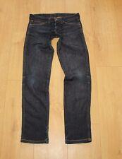 Azul Denim Wrangler Cremallera Baja altura lavado a la piedra Skinny Jeans Lavado Oscuro W 26 L 30