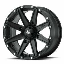 """MSA M33 Clutch 14"""" ATV/UTV Wheel Rim 14x7 4/110 +10 Offset Satin Black"""