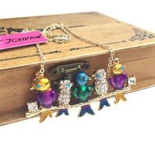 Hot Betsey Johnson Pendant Rhinestone Chain Jewelry Women Gift Starfish Necklace