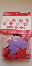 Creatology Valentine's day foam stickers. 4 oz. Hearts and xoxo. Ages 3+
