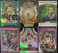 Lot of (6) Andrew Wiggins, Including Liftoff! Impact SP, Optic/Prizm parallels