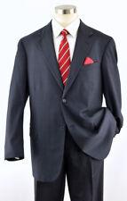 NAUTICA Men's Solid Blue 2-Btn Executive Wool Suit ~ 44L  38W x 31L