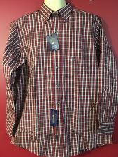 CLUB ROOM Men's Red Plaid Estate Dress Shirt - Size 15 1/2 x 32/33 - NWT $52.50