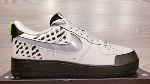 Nike Air Force One 1 07 LV8 2 Under Construction Grey Black BQ4421-001 Size 11.5