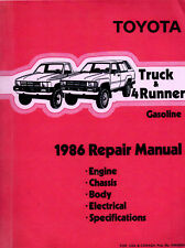1986 Toyota Dlx & Sr5 Pickup Truck & 4Runner Repair Manual: Factory / Original