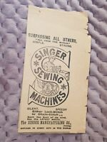 Singer Sewing Machines - 1903 Advertisement