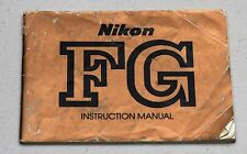 NIKON FG Camera Guide Manual Instruction Photography Book