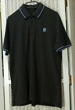 "G-STAR RAW Polo Shirt Men's L 38"" Chest Black Organic Cotton Twin Tip Casual"