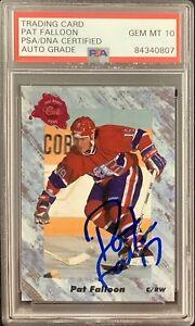 Pat Falloon Signed 1991 Classic Promo Card Flyers Hockey PSA/DNA Auto Gem 10