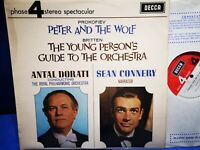 @DECCA PHASE 4 PFS 4104 *GRVD 1ST* SEAN CONNERY* PROKOFIEV PETER & THE WOLF* NM
