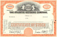 Atlantic Refining Company > 1960s Pennsylvania stock certificates share