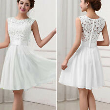 Womens Wedding Bridesmaid Short Mini Dress Lace Tunic Evening Party Cocktail